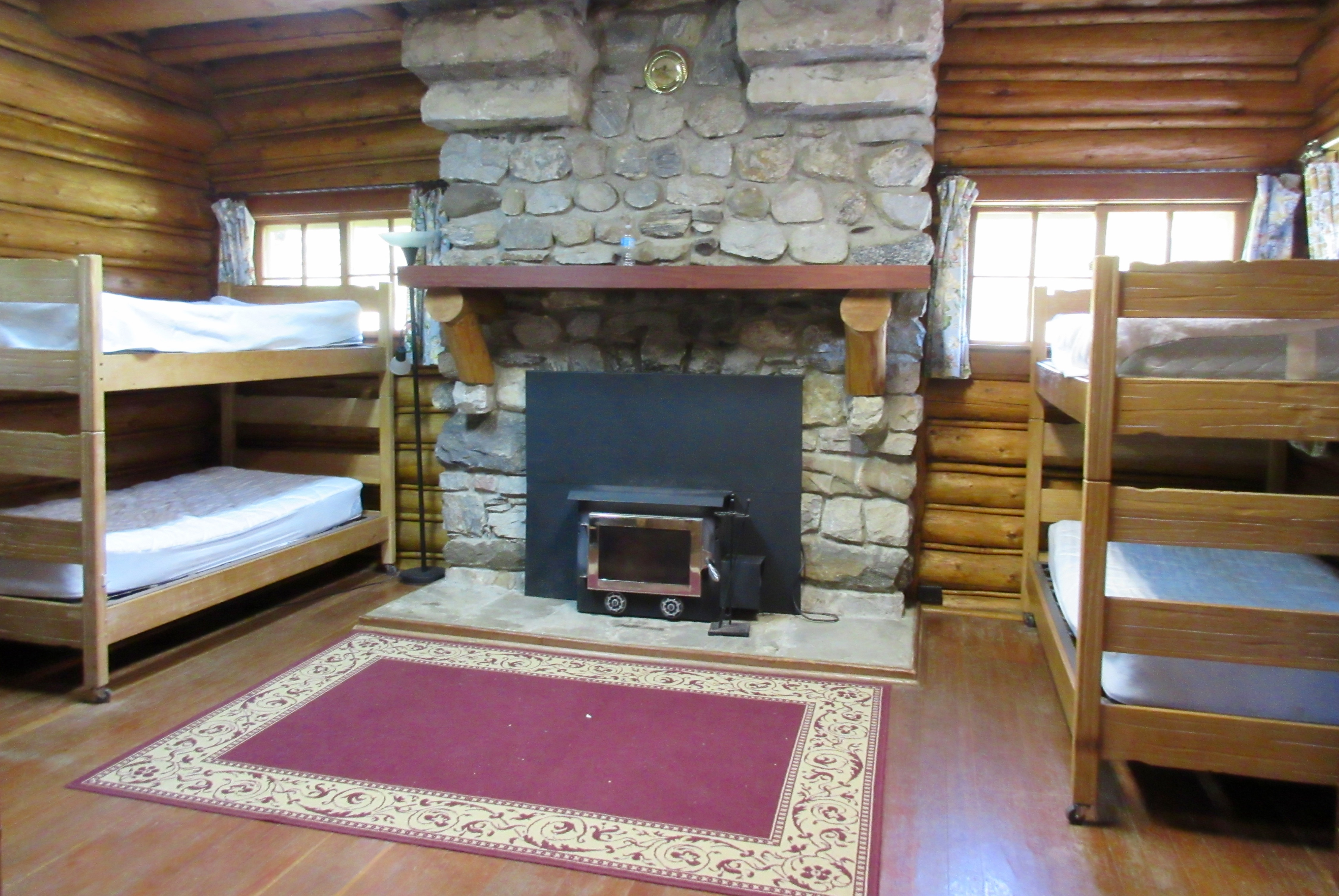 A bedroom in the Johnson Lodge
